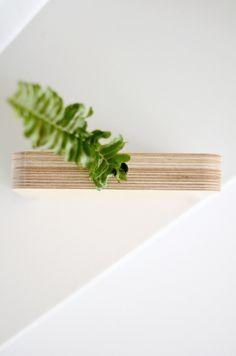 Eco-sustainable birch wood ply vase