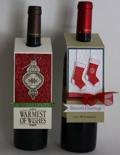 dressed up bottles for xmas
