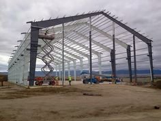 Framing of steel building @ www.steelsmithinc.com