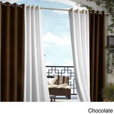 Gazebo Grommet Top 96 inch Indoor/ Outdoor Curtain Panel | Overstock.com Shopping - Great Deals on Curtains