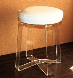 lucite stool