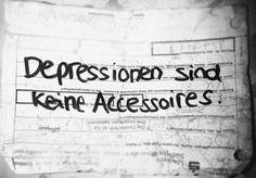 Depressionen sind dchlimmer als jedes koerperliche ...