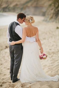 Check out Brian + Deze... DIY beach wedding - it's gorgeous! // image: Jennifer Wilson Photography
