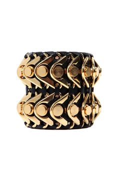 I like this bangle. When you need a touch of gold or that big stand-out piece... this is my thing! Bracelet by Balmain. http://www.style.com/accessories/search/jewelry