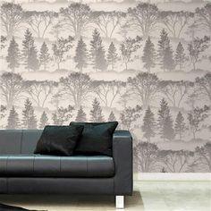 Graham & Brown Mirage Wallpaper, Grey