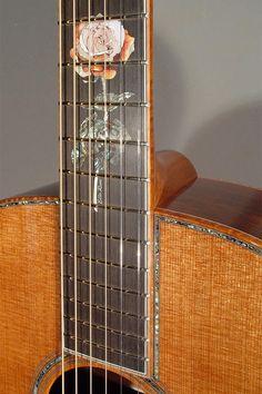 "Bourgeois ""Ella Rose"" Guitar Inlay"