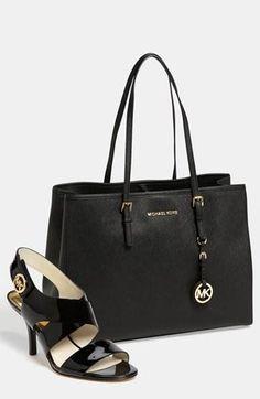 MICHAEL Michael Kors black travel tote & sandals