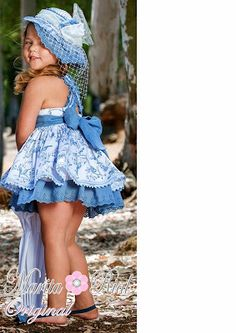 TOPOS Y RAYAS: MARITA RIAL COLECCION VERANO 2013 Little Girl Outfits, Little Girl Fashion, Little Girl Dresses, Kids Outfits, Kids Fashion, Girls Dresses, Cute Outfits, Pretty Outfits, Toddler Dress