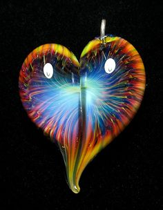 Glass heart by Brent Graber.