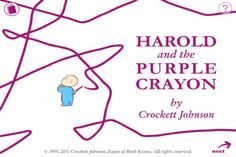 """Recommended by SLJ - 7/1/12 """"The tablet version of the classic picture book by Crockett Johnson provides an intimate reading experience and works particularly well in a one-to-one setting,"""" Travis Jonker"""