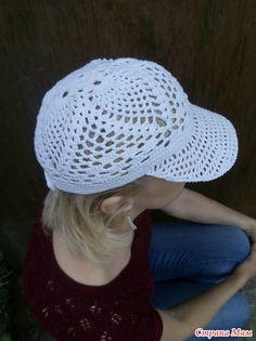 Crochet Hat With Brim, Crochet Summer Hats, Diy Crochet, Crochet Baby, Knitted Hats, Baby Patterns, Crochet Patterns, Bennies Hats, Sombrero A Crochet