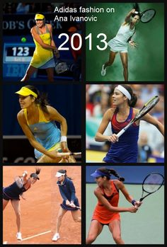 Collage: Adidas fashion on Ana Ivanovic in 2013