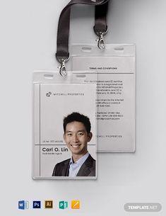 Real Estate Company ID Card Template , Name Tag Design, Id Card Design, Id Design, Badge Design, Tool Design, Design Ideas, Graphic Design, Company Id, Create A Company