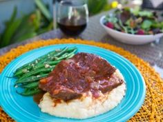 Dave Pearson's (50 year chef at Dodger Stadium)  Red Wine and Tomato Braised Short Ribs from CookingChannelTV.com