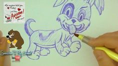 😍 Drawing a puppy freehand 😍 -  pen and ink doodle