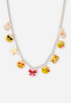 Emoji Charm Necklace (original price, $7.90) available at #Justice