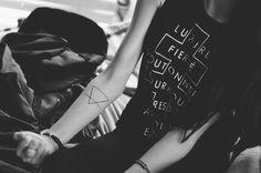 simple triangle tat http://tattoos-ideas.net/simple-triangle-tat/ Arm Tattoos, Geometric Tattoos, Minimal Tattoos
