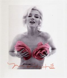 Marilyn Monroe with Pink Roses (From the Last Sitting) by Bert Stern on artnet Auctions