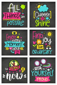 Chalkboard inspirational posters