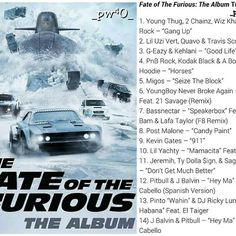 Here's a new #F8 soundtrack:    Now they're looking to replicate that success by dropping The Fate of The Furious: The Album, a soundtrack they're releasing with Artist Partner Group and Universal Pictures the same day the movie comes out, April 14.