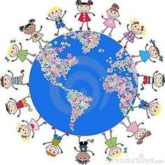 Photo about Illustration of mixed ethnic kids around our planet. Illustration of childhood, colored, cartoons - 16150273