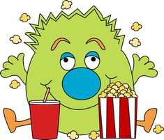 Monster with Popcorn