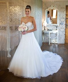 Beaming bride Fiona wearing Sophia Tolli Danni - Style Y21521