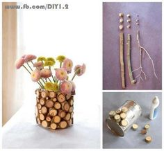 pretty idea for recycling cans and twigs
