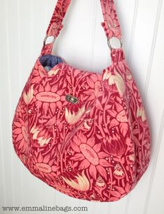 My version of the Uptown Hobo bag by Rose from www.roseisaroseis.blogspot.com.  I love it in velveteen, and found it very easy and quick to make. Great pattern.  Janelle
