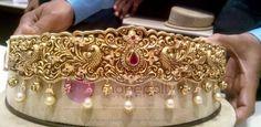 Gold Vadanam Designs from Manepally Jewellery Indian Wedding Jewelry, Bridal Jewelry, Gold Jewelry, Diamond Jewelry, Vaddanam Designs, Waist Jewelry, Indian Jewellery Design, Jewellery Designs, Gold Earrings Designs