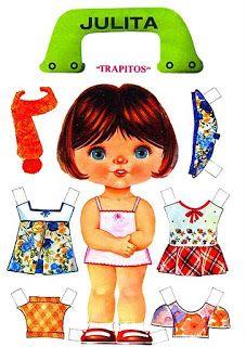 Bonecas de Papel: Cabeçudas Coleção TRAPITOS