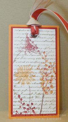 Botanicals Fall Bookmark