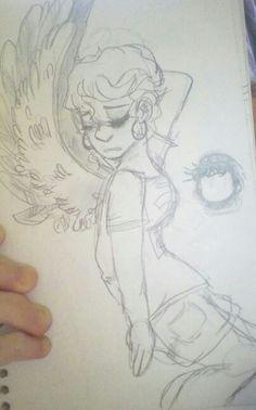 Modern Angel by: @rainb0wskittles (DrawnMasterpiece) DeviantART.com