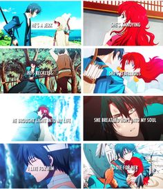 Akatsuki no Yona / Yona of the Dawn anime and manga || Hak X Yona <3 SO CUTE