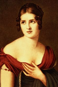 Pauline Bonaparte, Princess Borghese. Nepoleon's sister was mistress to many...legend states she liked to be naked most of the time, carried in & out of the bath by a muscular black moor and warmed her feet in a lady in waitings decollagè! total nymphomanic