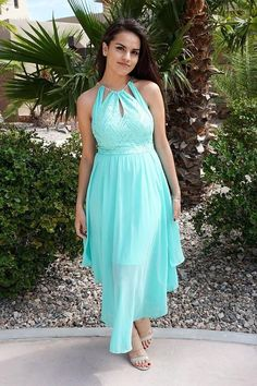 You will be all dressed up in our There She Goes Mint Green Halter Cut Out Maxi Dress. Glam up with this keyhole neckline luxe chic satin top and flowy goddess chiffon at the bottom. Features a luxe halter top with a golden chain. Event Dresses, Holiday Dresses, Fall Dresses, Blue Dresses, Short Dresses, Prom Dresses, Formal Dresses, Dinner Dresses, Halter Dresses