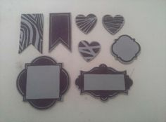 Stamps carved to coordinate with some of Stampin' Up!'s framelits