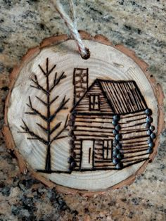 Rustic wood burned Christmas ornament https://www.etsy.com/shop/BurnwoodCreations