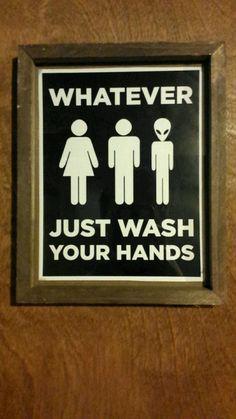 Gender Neutral Bathroom Sign http://ift.tt/2pryVYK