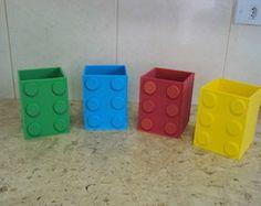 enfeites de mesa lego