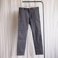 Chino Cloth Pants - Narrow #charcoal