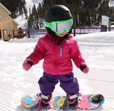 Aspen was born to #snowboard!