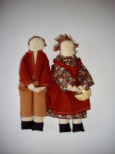 Doll Set  Cute Country Couple by NanNasThings on Etsy.