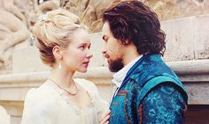 Queen Anne and Aramis in The Musketeers