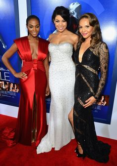 "Tika Sumpter, Jordin Sparks and Carmen Ejogo at the Los Angeles premiere of ""Sparkle"" on August 16, 2012."