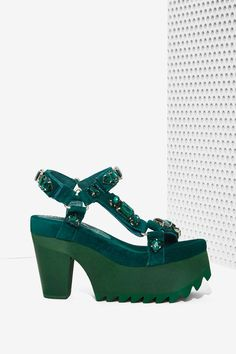 Jeffrey Campbell Mambo Suede Platform - Emerald