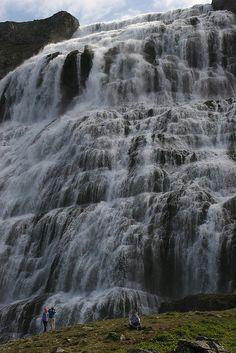 Dynjandi Waterfalls in Westfjords, Iceland (by eldovani).