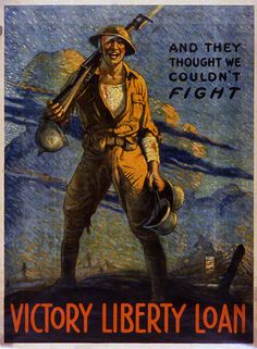 """And They Thought We Couldn't Fight"" - This poster, and many others, is now on display in Cincinnati Museum Center's online exhibit, ""World War I Propaganda Posters."" See more here: http://www.cincymuseum.org/exhibits/world-war-i-propaganda-posters This exhibit and the National Underground Railroad Freedom Center's Cincinnati Soldiers exhibit are presented as part of Cincinnati Remembers WWI, a citywide series of events commemorating the centenary of the First World War. #WWI #VintagePosters…"