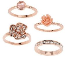 {Courtney's Favorite} These stackable flower rings from Susan Graver are so chic!
