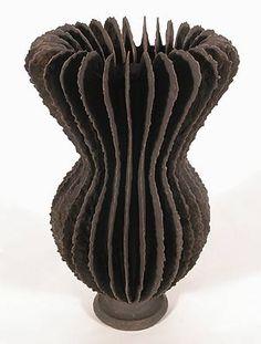 Ursula Morley - Brown Crackle Goblet